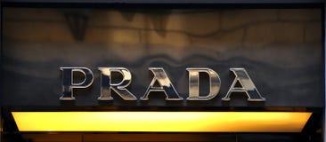 Prada brand logo Stock Images
