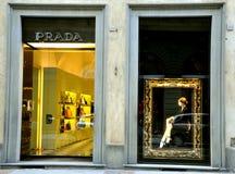 Prada-Butike Stockfoto