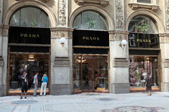 Prada enregistrent Photo stock