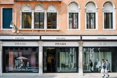 Prada entreposé à Venise Images libres de droits