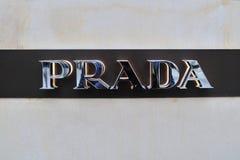 Prada Fashion logo Stock Photos