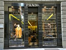 Prada fashion store in Italy  Royalty Free Stock Image