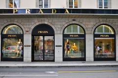 Prada flagship store, Geneva, Switerland Royalty Free Stock Images