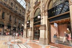 Prada immagazzina a Milano Immagine Stock Libera da Diritti