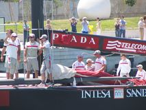 Prada, Louis Vuitton and America\'s cup Stock Photos