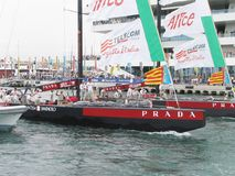 Prada, Louis Vuitton and America\'s cup royalty free stock image