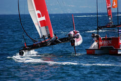 Prada Luna Rossa AC45 at Napoli America's Cup Race Royalty Free Stock Photography