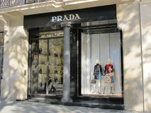 Prada luxury store in Barcelona Stock Image