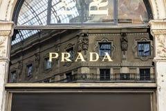 PRADA MILAN Photo libre de droits