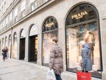Prada Milano Royalty Free Stock Image
