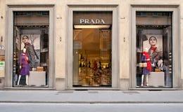 Prada-Opslag royalty-vrije stock afbeelding