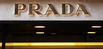 Prada shop Royalty Free Stock Photo