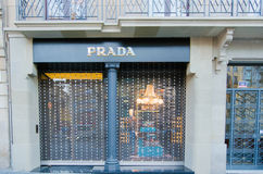 Prada shop Stock Image