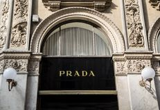 Prada shop Royalty Free Stock Images