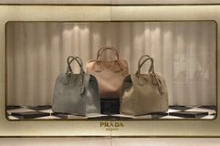 Prada-showcase Stock Foto