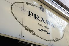 Prada sign Stock Images