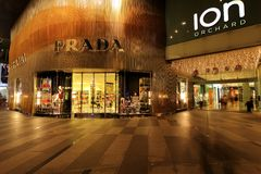 Prada Store at Orchard Ion Royalty Free Stock Photography