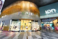 Prada Store at Orchard Ion Stock Images