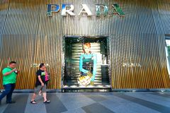 Prada Store at Orchard Ion Royalty Free Stock Images