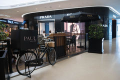 Prada store and Paul bakery cafe at Central Embassy Shopping Mal Royalty Free Stock Photo