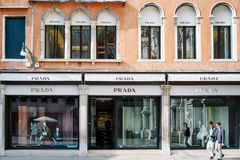 Prada store in Venice royalty free stock images
