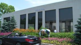 Prada storefront stock video footage