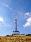 Praded, alta torre della televisione Fotografia Stock