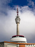 Praded, alta torre della televisione Immagine Stock Libera da Diritti