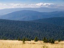 Praded, la plus haute montagne des montagnes de Hruby JesenÃk Photos libres de droits