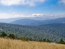 Praded, la plus haute montagne des montagnes de Hruby JesenÃk Photo stock