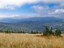 Praded, la plus haute montagne des montagnes de Hruby JesenÃk Image stock