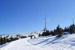 Praded outlook tower at winter Stock Photo