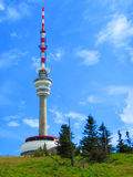 Praded (TV and GSM transmitter). In the Jeseniky mountains royalty free stock photography