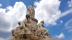 Pradier Fountain, Nimes. South of France stock video