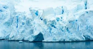 Pradise海湾,南极洲海岸线  免版税库存图片