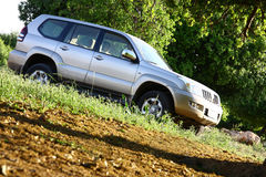 Prado. A Toyota Jeep on a picnic royalty free stock images