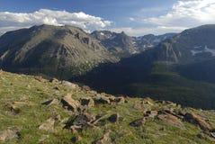 Prado alpestre en las montañas rocosas de Colorado fotos de archivo