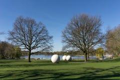 Prado, bolas, nster Rin-Westfalia del norte del ¼ de Aasee MÃ Fotos de archivo