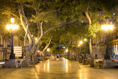 The Prado Boulevard in downtown Havana at night Stock Photos