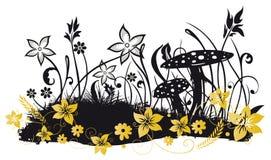Prado com flores Fotografia de Stock