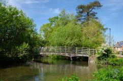 Prado da água de Harnham, Salisbúria, Inglaterra imagens de stock