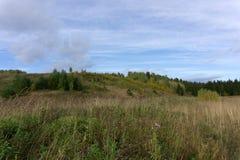 Prado da montanha no vale do trajeto de carpathians ativo fotos de stock