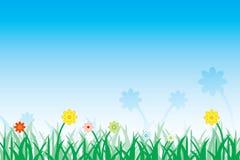 Prado de la flor stock de ilustración