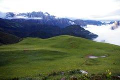 Prado de la montaña de Jiudingshan Foto de archivo libre de regalías