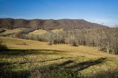 Prado de la montaña en el condado de Bath, Virginia, los E.E.U.U. Fotografía de archivo