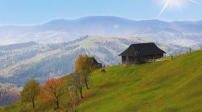 Prado de la primavera en las montañas imagen de archivo