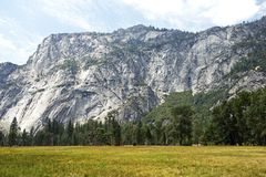 Prado del valle de Yosemite Imagen de archivo libre de regalías