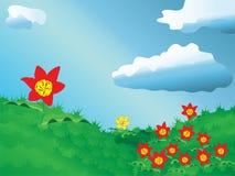 Prado dos tulips Fotos de Stock Royalty Free