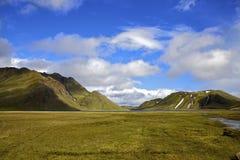 Prado islandés en el verano Imagen de archivo libre de regalías