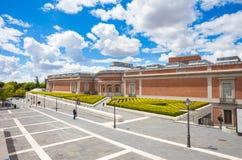 Prado medborgare Art Museum i Madrid Fotografering för Bildbyråer